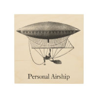 Personal Airship Wood Print
