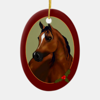Personal Arabian Horse Cameo Holiday Ornament
