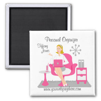 Personal Assistant 2 Inch Square Magnet