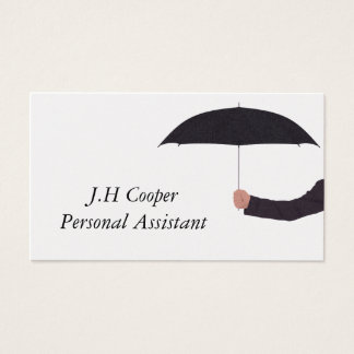 Personal Assistant Umbrella Business Card