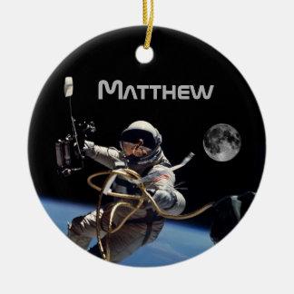 Personal Astronaut Space Walk Ceramic Ornament