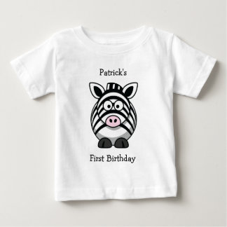 Personal Baby's First  (Event) Zebra Baby Tee