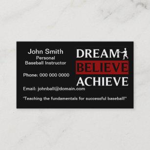 Baseball business cards templates zazzle personal baseball instructor business card colourmoves