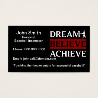 Personal Baseball Instructor Business Card