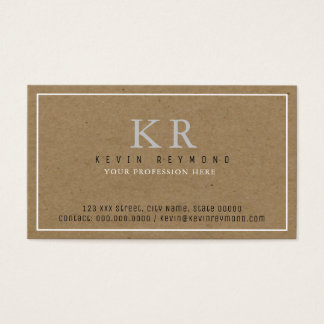 personal basic faux-kraft brown presentation business card