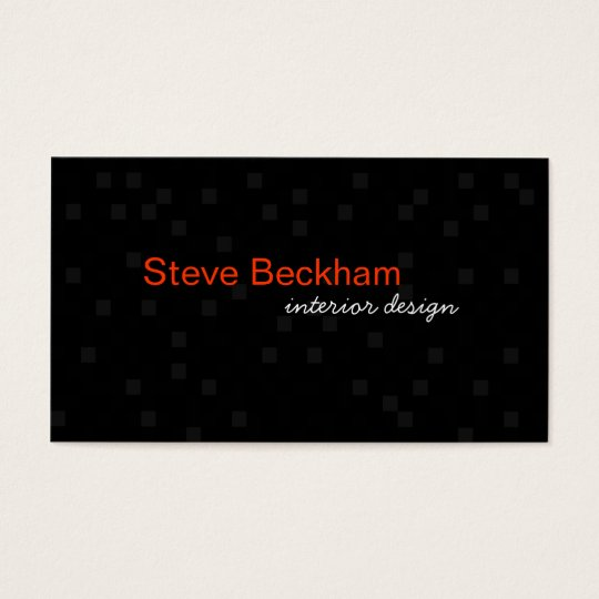 Personal Black Business Card