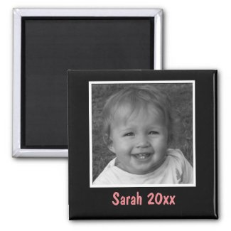 Personal Black Greeting Custom Photo and Text