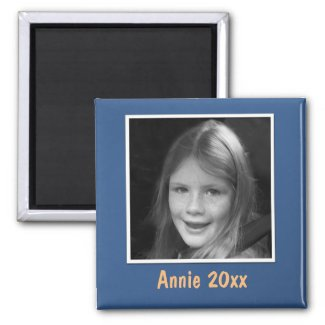 Personal Blue Greeting Custom Photo and Text