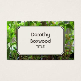 Personal Botanical Plants Seedlings Customizable Business Card