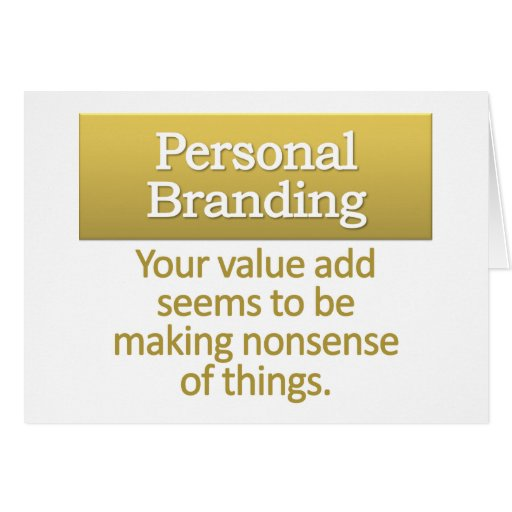Personal Branding  Stationery Note Card