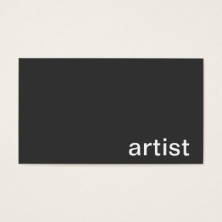 Personal Business Card (Artist)