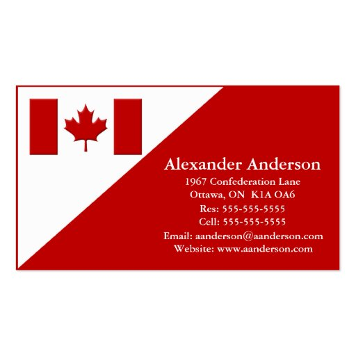 Personal business card canada zazzle for Business cards canada