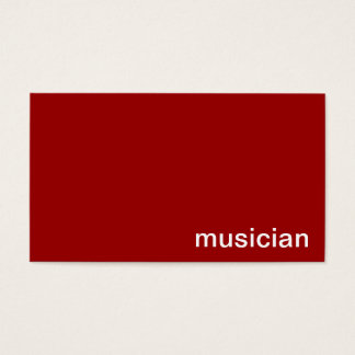 Personal Business Card (Musician)