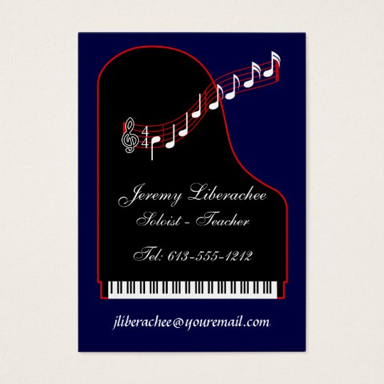 Personal - Business Card Piano II