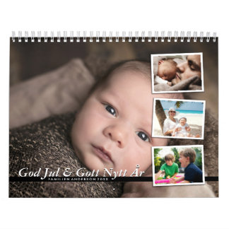Personal calendar - family photo calendar 2017