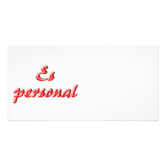 Personal card personalized photo card