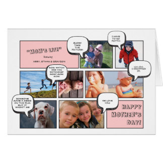 Personal Cartoon Strip Photo Mother's Day Card