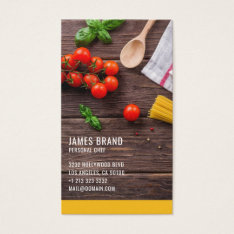 Personal Chef Catering Service Business Card at Zazzle