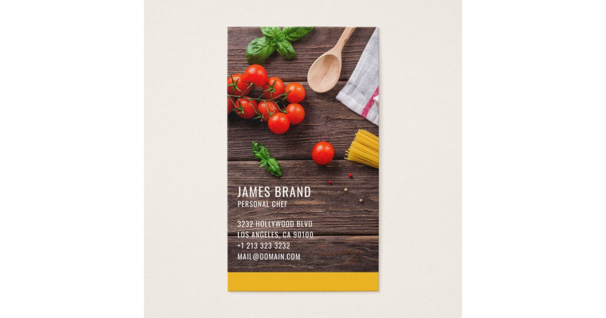 Personal Chef Catering Service Business Card | Zazzle.com