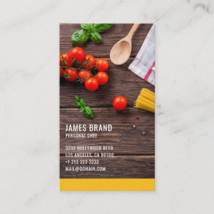 Catering service business cards zazzle personal chef catering service business card colourmoves