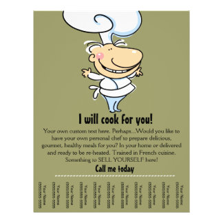 Personal chef/catering tear sheet flyer
