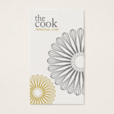Personal Chef, Catering, Whisk, Culinary Business Card at Zazzle