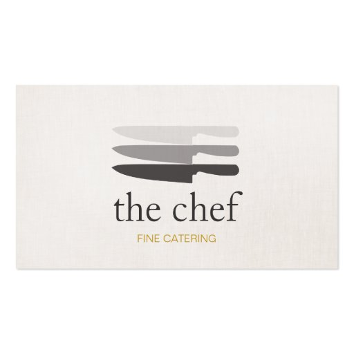 Personal Chef Knife Catering Simple and Modern Business Cards