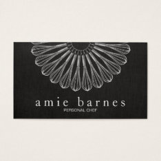 Personal Chef Whisk Black Catering Black Business Card at Zazzle
