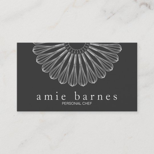 Personal chef whisk logo black catering business card zazzle personal chef whisk logo black catering business card colourmoves