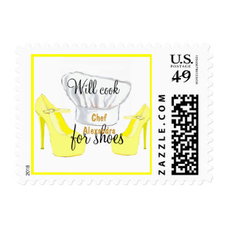 Personal Chef -Will Cook for Shoes yellow, medium Postage