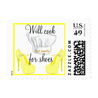 Personal Chef -Will Cook for Shoes yellow Stamp