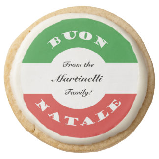 Personal Christmas Cookies For Italian-Americans Round Premium Shortbread Cookie