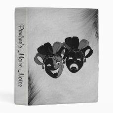 Personal Comedy and Tragedy Theater Masks Silver Mini Binder