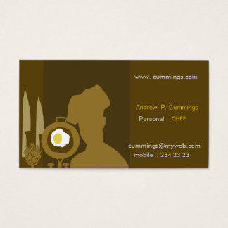 Personal Cooking Knives Pots Food The Modern Chef Business Card