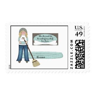 Personal de la economía doméstica del perro timbre postal