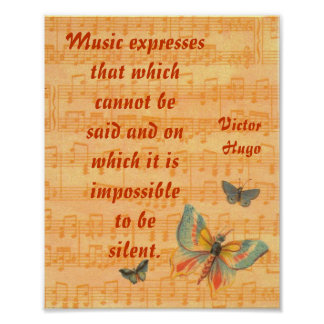 Personal de las notas musicales con el poster Hugo