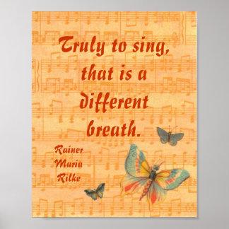 Personal de las notas musicales con el poster Rilk