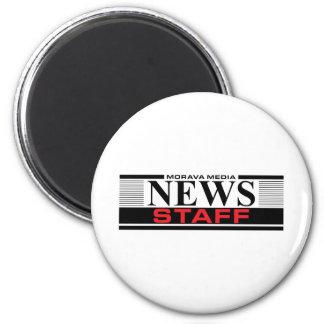 Personal de las noticias imán redondo 5 cm