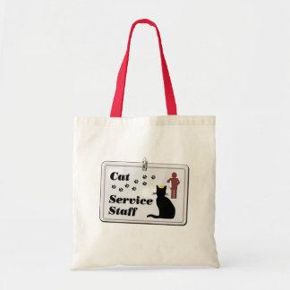 Personal de servicio del gato bolsas
