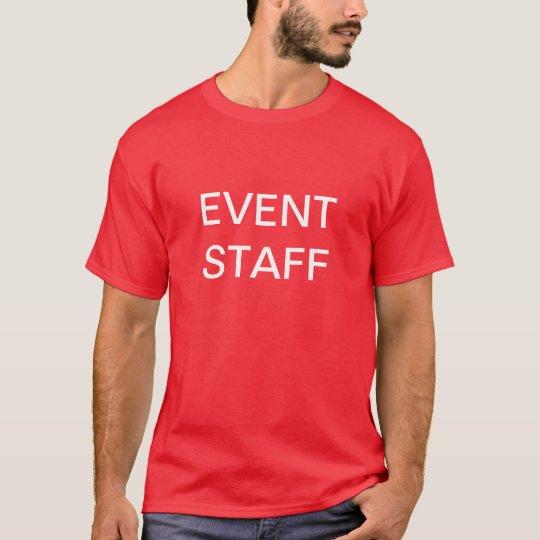 Personal del acontecimiento, camisetas de encargo