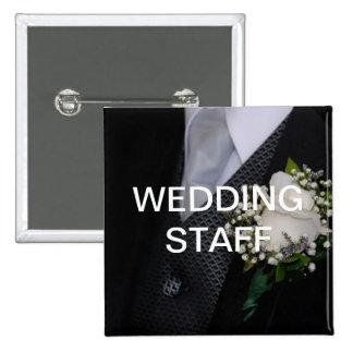 Personal del boda pin cuadrado