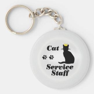 Personal del gato llavero redondo tipo pin
