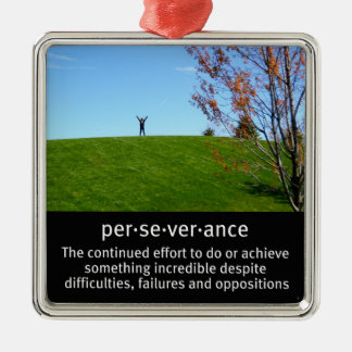 Personal Determination and Perseverance Metal Ornament