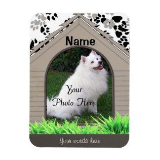 Personal Dog Memorial - Dog House Rectangular Photo Magnet