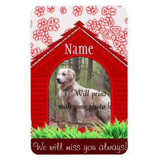 Personal Dog Memorial - Red Dog House Rectangular Photo Magnet