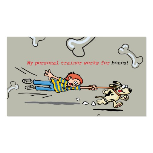 Personal dog trainer luggage tag business card zazzle for Dog tag business cards