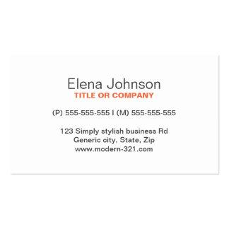 Personal elegante simple genérico elegante gris tarjetas personales