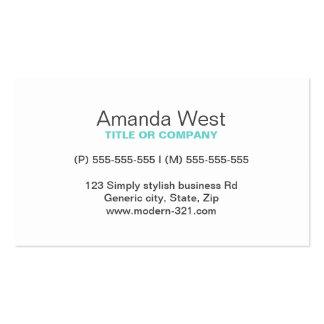 Personal elegante simple genérico moderno azul de  plantilla de tarjeta de negocio