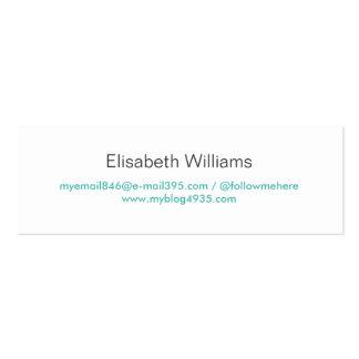 Personal elegante simple genérico moderno azul de tarjetas de visita mini