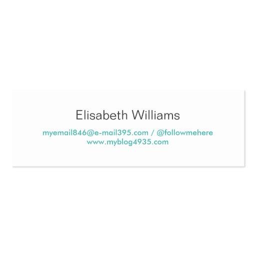 Personal elegante simple genérico moderno azul de  tarjeta de visita